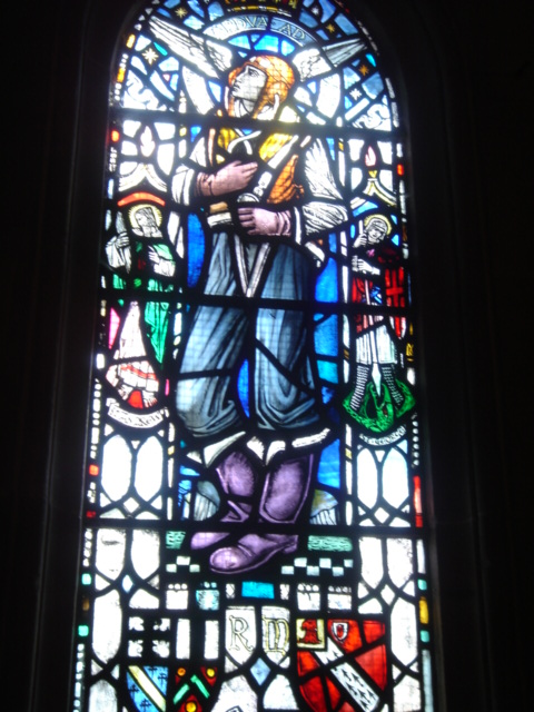 pilot stained glass, Rosslyn Chapel