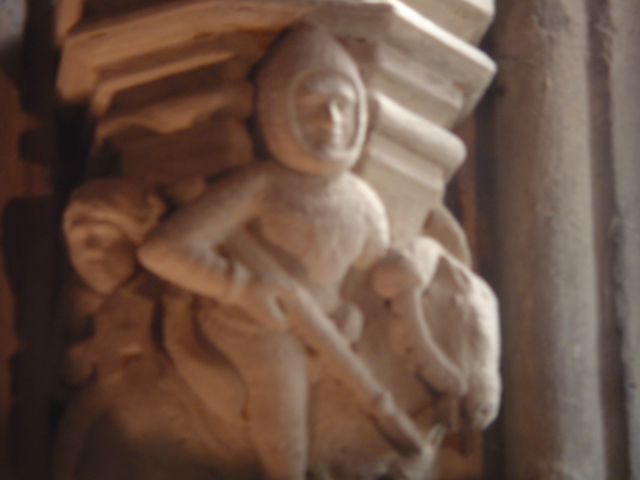 Knights Templar carving, Rosslyn Chapel