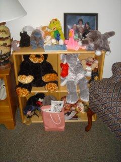 Mother's stuffed animals