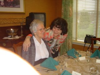 Mother and I at Thanksgiving dinner